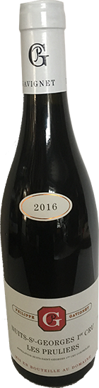 "NUITS-ST-GEORGES 1er cru ""Les Pruliers"" 2016 - Domaine Philippe Gavignet - 2016"